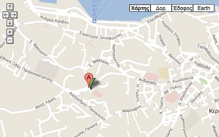Mastoras Corfu Clinic map